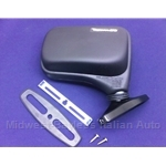 "Side View Mirror ""Flag Style"" Right  Vitaloni ""Baby Tornado"" (Fiat 124 Spider, X19, 131, 128) - NEW"