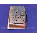Door Latch Strike - Threaded Steel Plate (Fiat Bertone X19 All) - U8