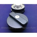 Fuel Filler Cap Locking - BLACK (Fiat Bertone X1/9 1979-88, Fiat 131, 850, Lancia) - NEW