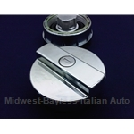 Fuel Filler Cap Locking - CHROMED (Fiat Bertone X1/9 1979-88, Fiat 131, 850, Lancia) - NEW
