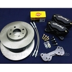 "WHOA! BRAKES Kit SERIES 3 for 14""-15"" Wheels - 10"" Vented Rotor (Fiat X1/9, Lancia Scorpion, 128) - NEW"