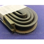 Convertible Top Rear Mounting Channel Rubber Weatherstrip Seal to Body (Fiat 850 Spider All) - NEW