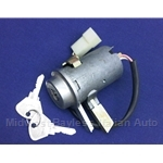 Ignition Switch OE Sipea - 7 Terminal / Long Lock / Chime (Fiat 850 Spider Coupe All, Other Italian) - OE NOS