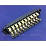 Fuse Block Box - 10 Fuse (Fiat 124 Spider 1968-77, 124 Sedan, 850, 128) - OE / RECONDITIONED