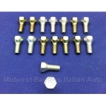 Lug Bolt 24mm - FIAT 80 A -  12x1.5 - Right Hand Thread - SET 16x (Fiat 850, 600 All) - OE / RENEWED