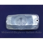 Turn Signal Front Right CLEAR (Fiat 850 Sedan Euro) - OE NOS
