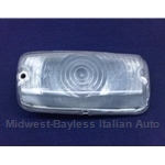 Turn Signal Front Left CLEAR (Fiat 850 Sedan Euro) - OE NOS