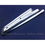 Convertible Top Chrome B-Pillar Body Seal Trim Left (Fiat 850 Spider All) - OE NOS