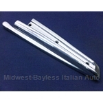Convertible Top Chrome B-Pillar Body Seal Trim Right (Fiat 850 Spider All) - OE
