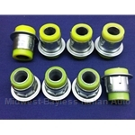 Control Arm Bushing KIT 8x - Front Polyurethane (Fiat 124 Spider, Coupe, Sedan All) - NEW