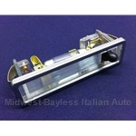 Courtesy Light w/Stainless Surround (Fiat 124 Spider 1968-82, 124 Coupe All, 128) - NEW OE LOOK
