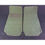 Floor Mat Pair Light Tan Plush (Fiat Pininfarina 124 Spider All) - NEW