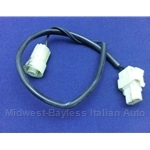 Marker Light Rear Bulb Holder Pigtail Harness 2-Wire (Fiat 124, 131 1979-On) - U8