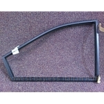 Quarter Window Frame Rear Right Black (Lancia Beta Coupe All) - OE NOS / BLEMISHED