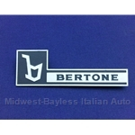"Side Vent Badge Left / Right - BERTONE ""b"" (Fiat X1/9 1979-82) - RECONDITIONED"