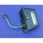 License Plate Light - Black w/Bullet Connector (Fiat X1/9, 124, 850, 128, Lancia Beta) - U8