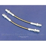 Brake Hose Stainless Braided Lines SET 2x Rear (Fiat 850 All) - NEW