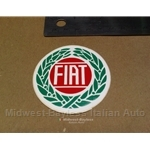 """FIAT"" emblem style Decal - 2 1/4"" circle (Fiat 124 Spider Coupe X19 128 131 850)"