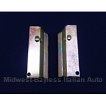 Brake Caliper Sliding Wedge - PAIR 2x Late-Style (Fiat 124, X19, 128, 131, Scorpion) - OE/RENEWED