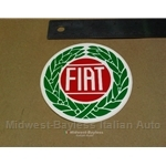 """FIAT"" emblem style Decal - 3 1/2"" circle (Fiat 124 Spider Coupe X19 128 131 850)"