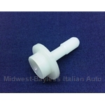 Brake Master Fluid Inlet Spout Straight - Swedge Style (Fiat 124 Coupe Spider 850) - OE NOS
