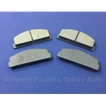 Brake Pad Set - Front Semi-Metallic (Fiat 124, X19, 131, 128, Scorpion) - NEW