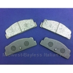 Brake Pad Set - Rear Semi-Metallic (Fiat 124, X19, Lancia Scorpion) - NEW