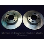 Brake Rotor PAIR 2x (Fiat X19, 124, 131, 128, 850, Yugo, Lancia Scorpion) - NEW