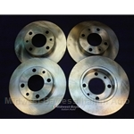 Brake Rotor Full SET 4x Front+Rear (Fiat Bertone X19, 124, Lancia Scorpion) - NEW