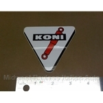"""KONI"" Triangle Decal (Fiat 124 Spider Pininfarina Bertone X19 128 850 131 Lancia Beta)"