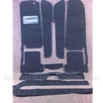 Carpet SET Black LOOP (Fiat 124 Spider 1968-82 + 1983-On) - NEW