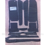 Carpet SET Black PLUSH (Fiat 124 Spider 1968-82 + 1983-On) - NEW