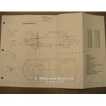 Chassis Geometry Blueprint (Fiat Bertone X19 All) - NEW