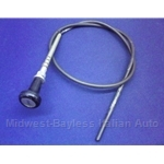 "Choke Cable Assembly 34"" (Fiat 124 Spider 1972 + 1967-71) - OE NOS"