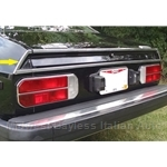 Rear Valence Stainless Trim Left (Lancia Beta Coupe All) - OE NOS
