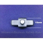 Bright Trim Clip 15mm Nylon Side Molding (Lancia) - OE NOS