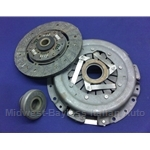Clutch KIT Cover + Disc + Bearing (Fiat 124 Spider, Coupe 1968-70 + All w/1438cc) - Original Thrust-Pad Style - NEW