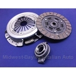 Clutch KIT Cover + Disc + Release Bearing - Tall Style (Fiat X19, 128  through 08/1974 - 4-Spd, Yugo All) - NEW
