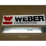 """WEBER CARBURATORI"" Decal (Fiat 124 Spider Bertone X19 128 850 131 Lancia Beta)"