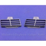 Console Center Lower Vent Grille Pair Left/Right (Fiat 124 Spider Coupe All) - NEW
