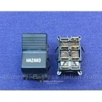 Console Hazard Lights Switch (Fiat X19 1973-78, 128) - OE NOS