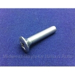 Convertible Top Boot Chromed Hook On Body Screw (Pinifarina 124 Spider 1983-85) - OE NOS