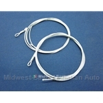 Convertible Top Tension Cable Pair (Fiat Pininfarina 124 Spider, 850 Spider All) - NEW