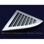 C-Pillar Vent Trim Chrome Left (Lancia Beta Coupe) - OE NOS