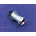 Dash Warning Lamp Socket and Lens (Fiat 124 128 All) - OE NOS