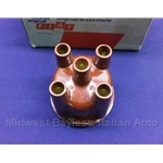 Distributor Cap - Straight Terminals  (Lancia Beta, Other FIAT) - OE NOS