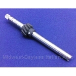 Distributor & Oil Pump Drive Shaft w/Clockwise Gear - 130mm (Fiat 600, Fiat 817/843cc) - OE