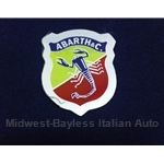 """ABARTH & C."" shield crest Decal - 1 1/4"" x 1 1/4"" gray trim"