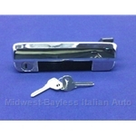 Door Handle Assembly Exterior Front Left With Keys (Fiat 128 1971-79) - OE NOS