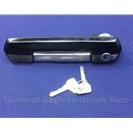 Door Handle Assembly Exterior Front Right With Keys (Fiat 131 Brava 1978.5-82) - OE NOS